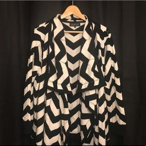 Drapey open-front sweater